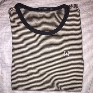 Tops - Obey Striped T-Shirt